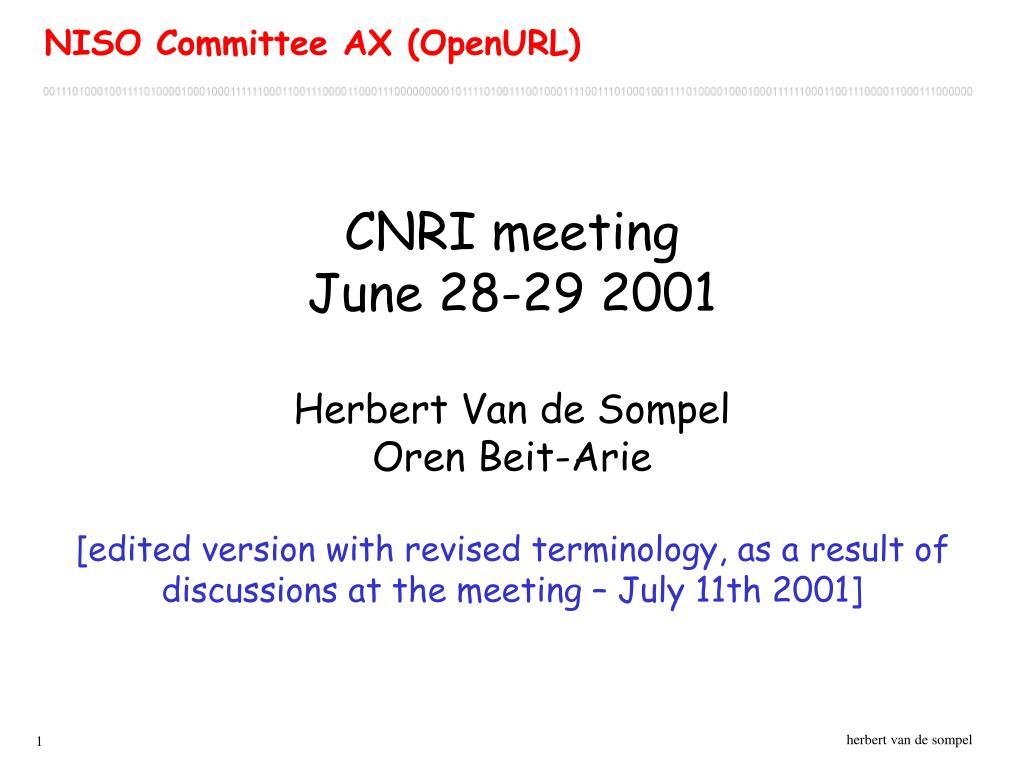 CNRI meeting