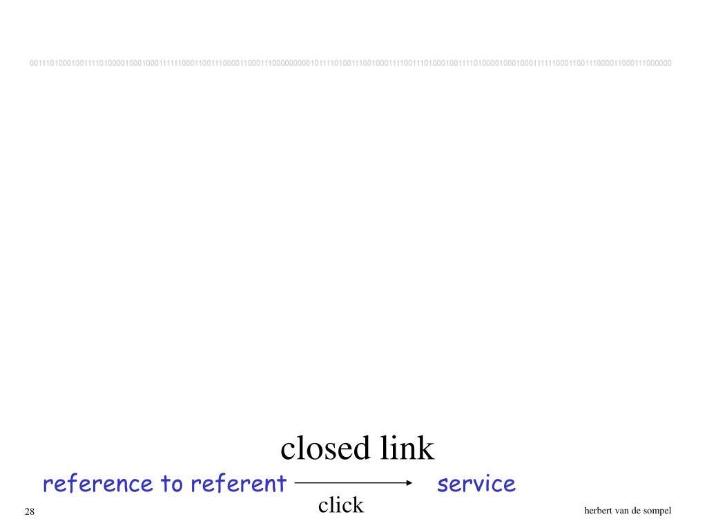 closed link