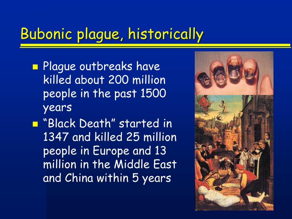 Bubonic plague, historically