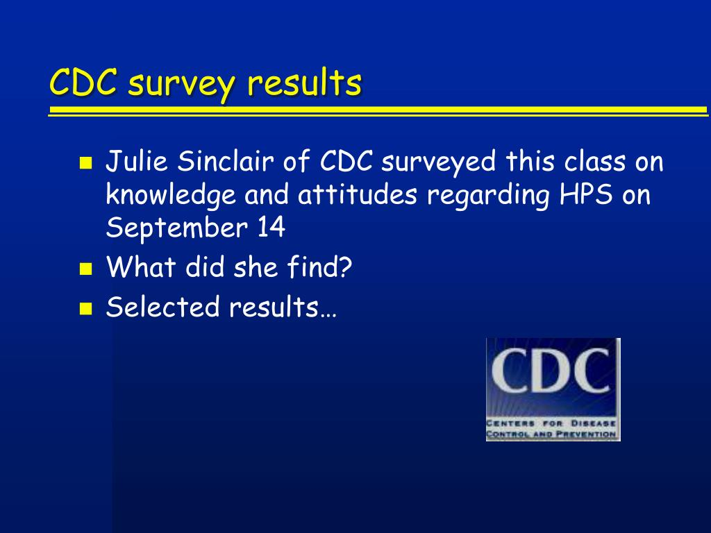 CDC survey results