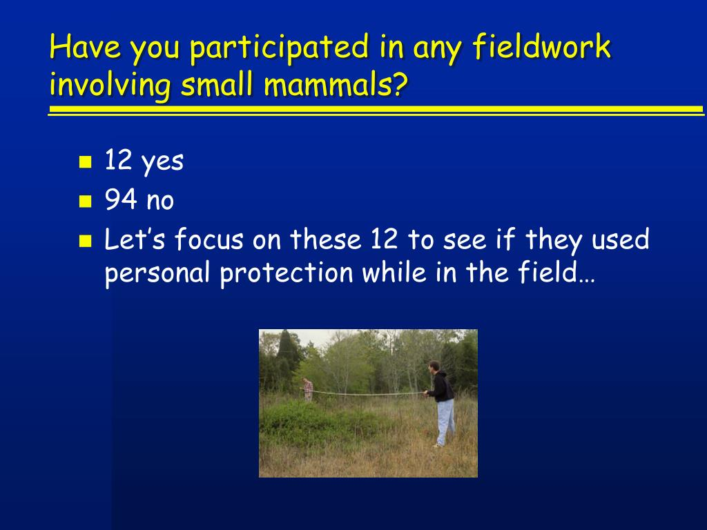 Have you participated in any fieldwork involving small mammals?