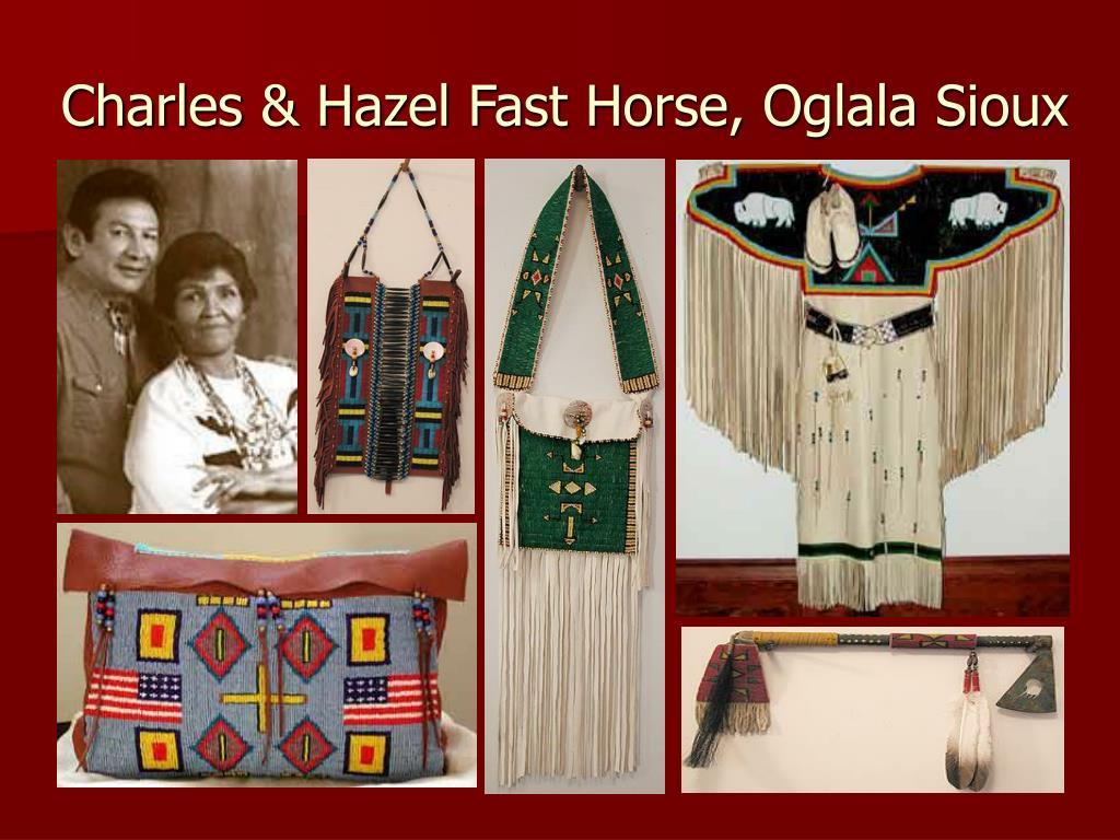 Charles & Hazel Fast Horse, Oglala Sioux