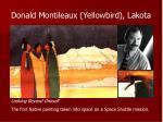 donald montileaux yellowbird lakota
