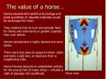 the value of a horse