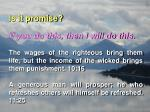 is it promise