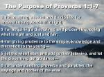 the purpose of proverbs 1 1 7
