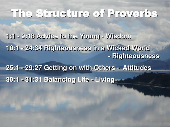 The Structure of Proverbs