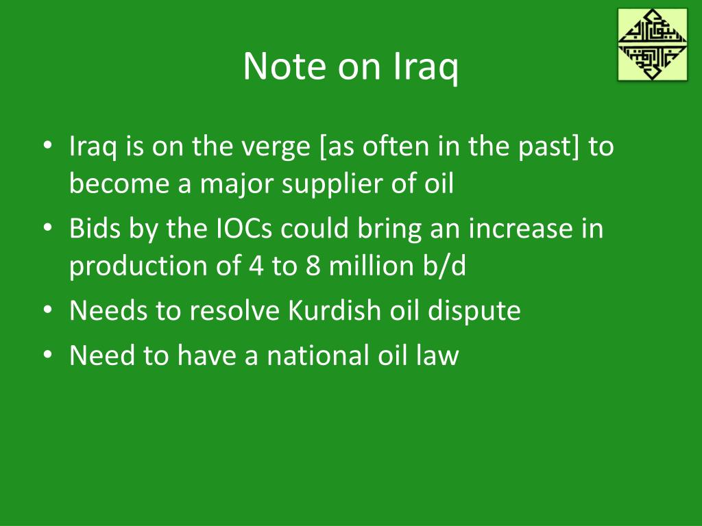Note on Iraq