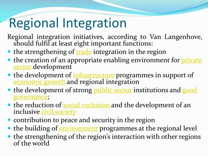 regional integration in the caribbean Commencing with a review of the historical and economic foundations of caribbean regional integration, the book fleshes out the potential scope of the legal systems created by the rtc, the rtb, and related treaties it explores the nature, competences, and law-making functions of the organs of caricom and the oecs,.