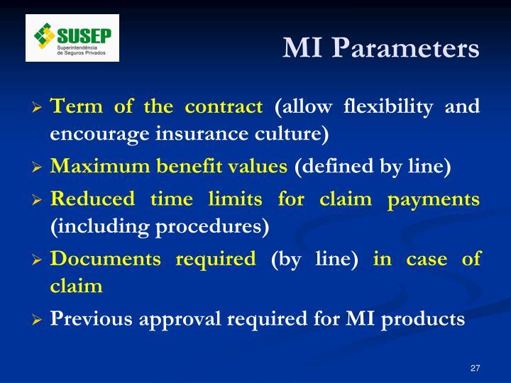 MI Parameters