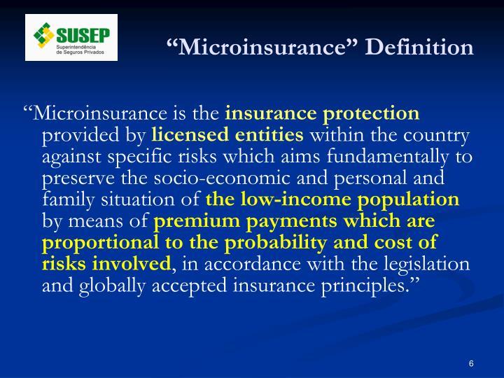 """Microinsurance"" Definition"