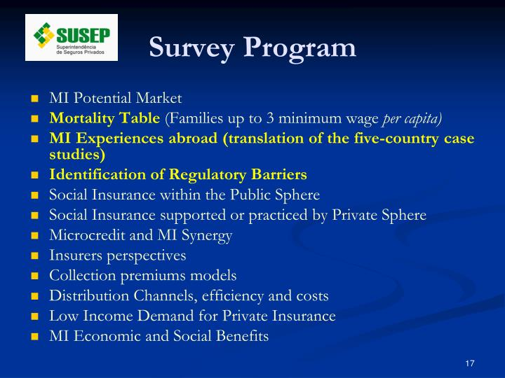 Survey Program