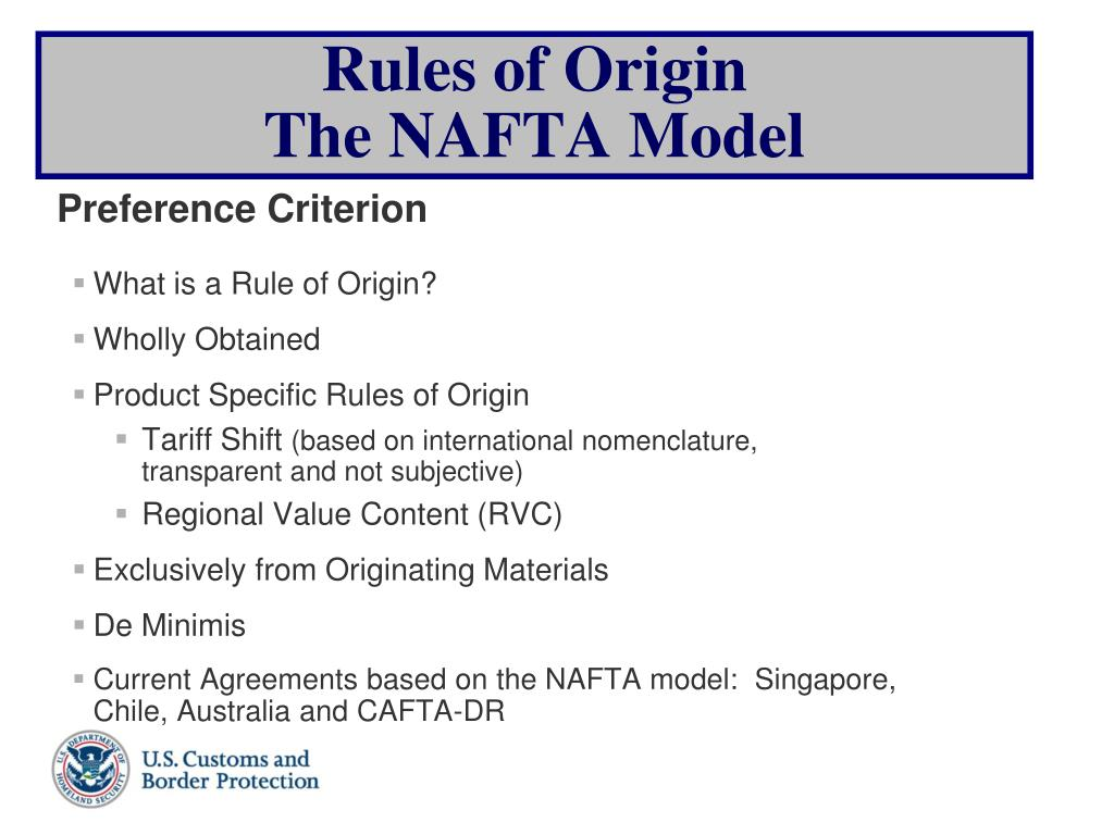 What is a Rule of Origin?