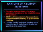 anatomy of a survey question