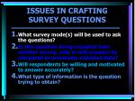 issues in crafting survey questions