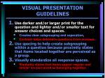 visual presentation guidelines