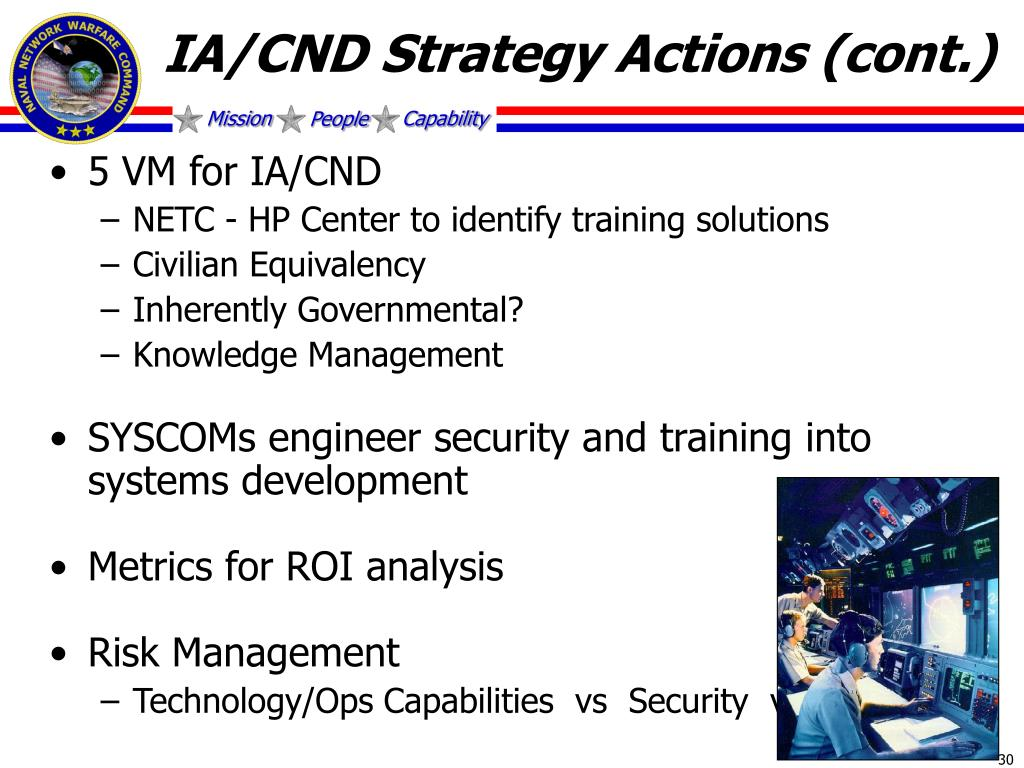 IA/CND Strategy Actions (cont.)