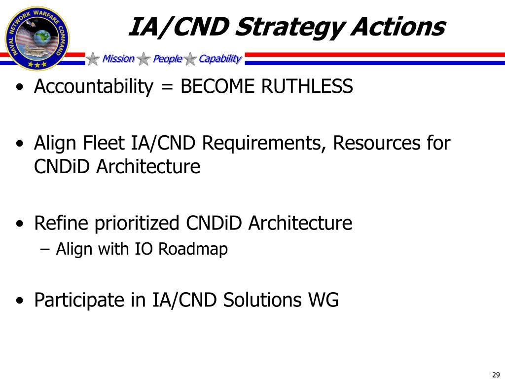 IA/CND Strategy Actions