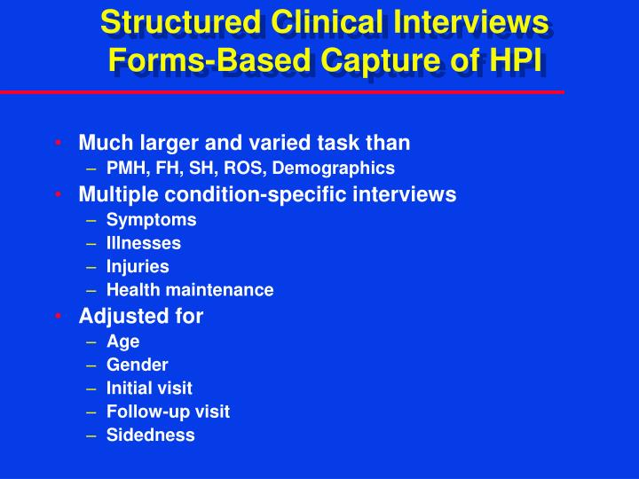 Structured Clinical Interviews