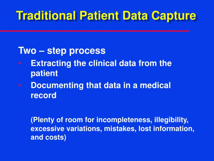 Traditional Patient Data Capture