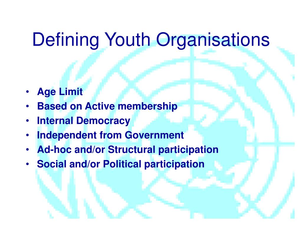 Defining Youth Organisations