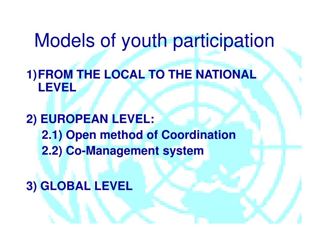 Models of youth participation