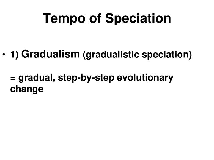 Tempo of Speciation