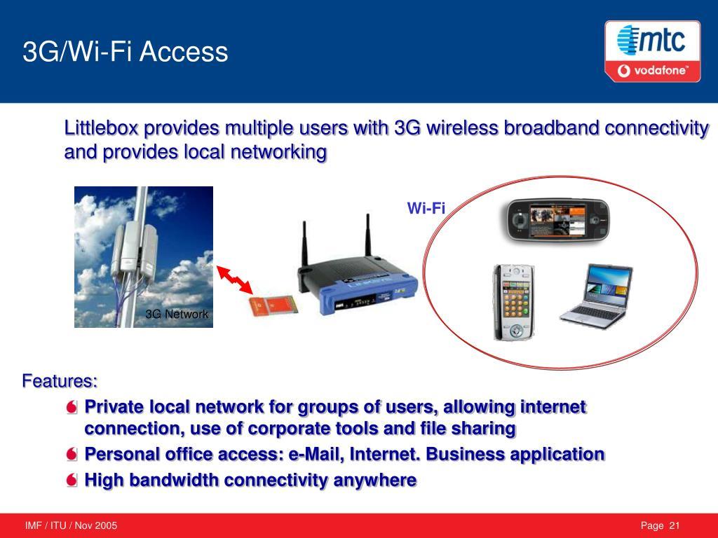3G/Wi-Fi Access