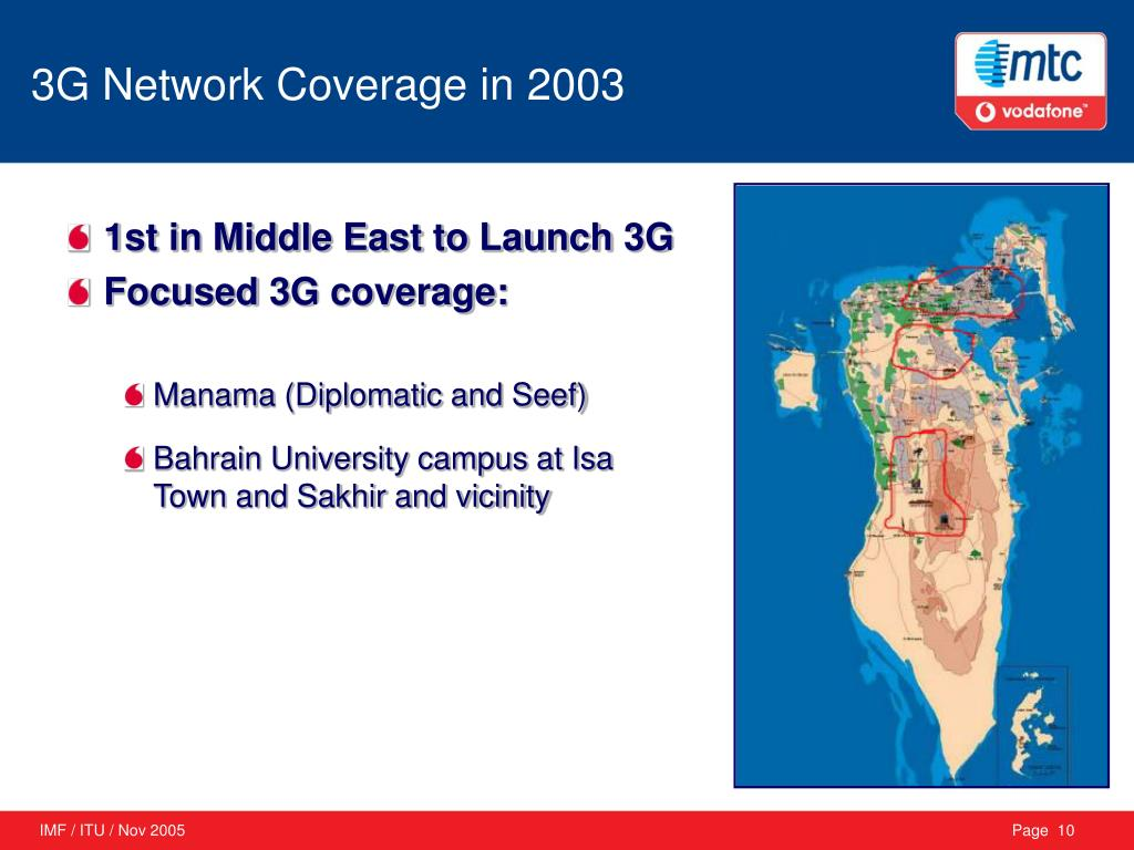 3G Network Coverage in 2003