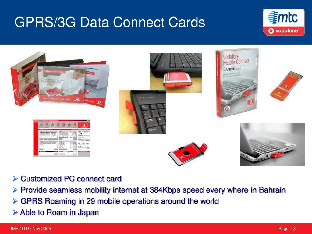 GPRS/3G Data Connect Cards