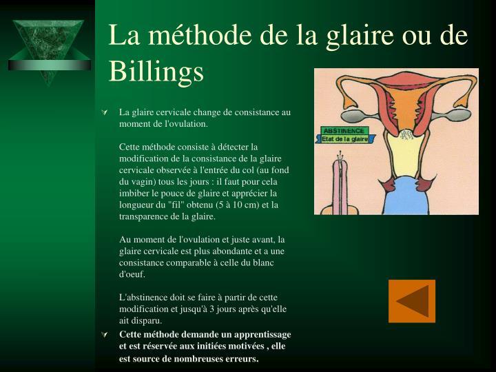 La méthode de la glaire ou de Billings