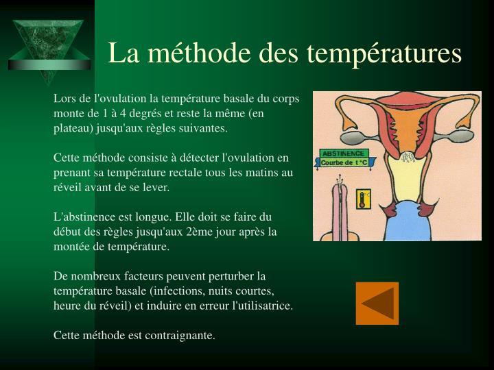 La méthode des températures