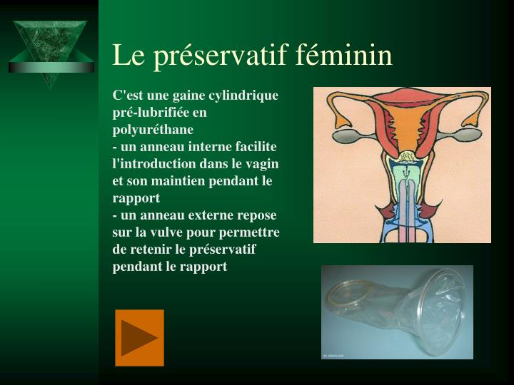 Le préservatif féminin