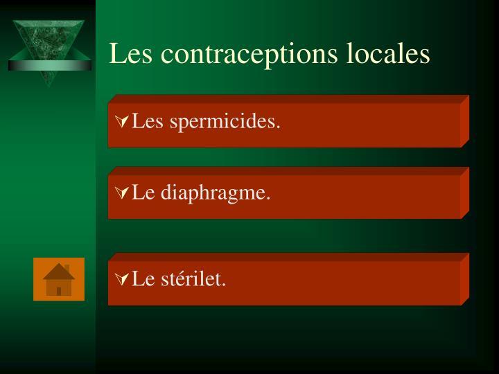 Les contraceptions locales