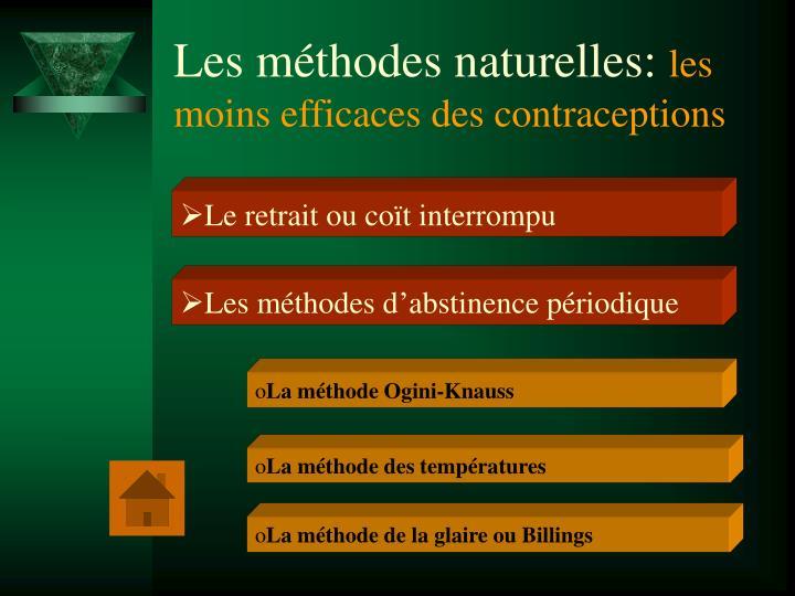 Les méthodes naturelles: