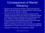 consequences of market efficiency