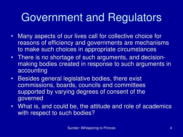 Government and Regulators