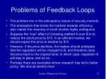 problems of feedback loops