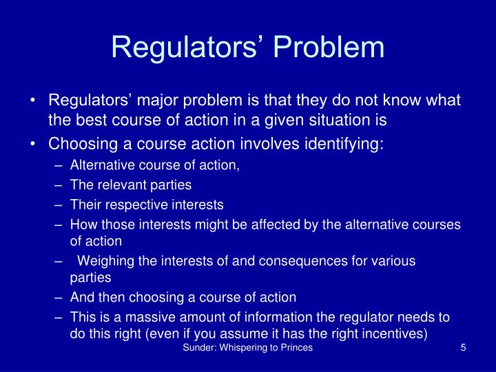 Regulators' Problem
