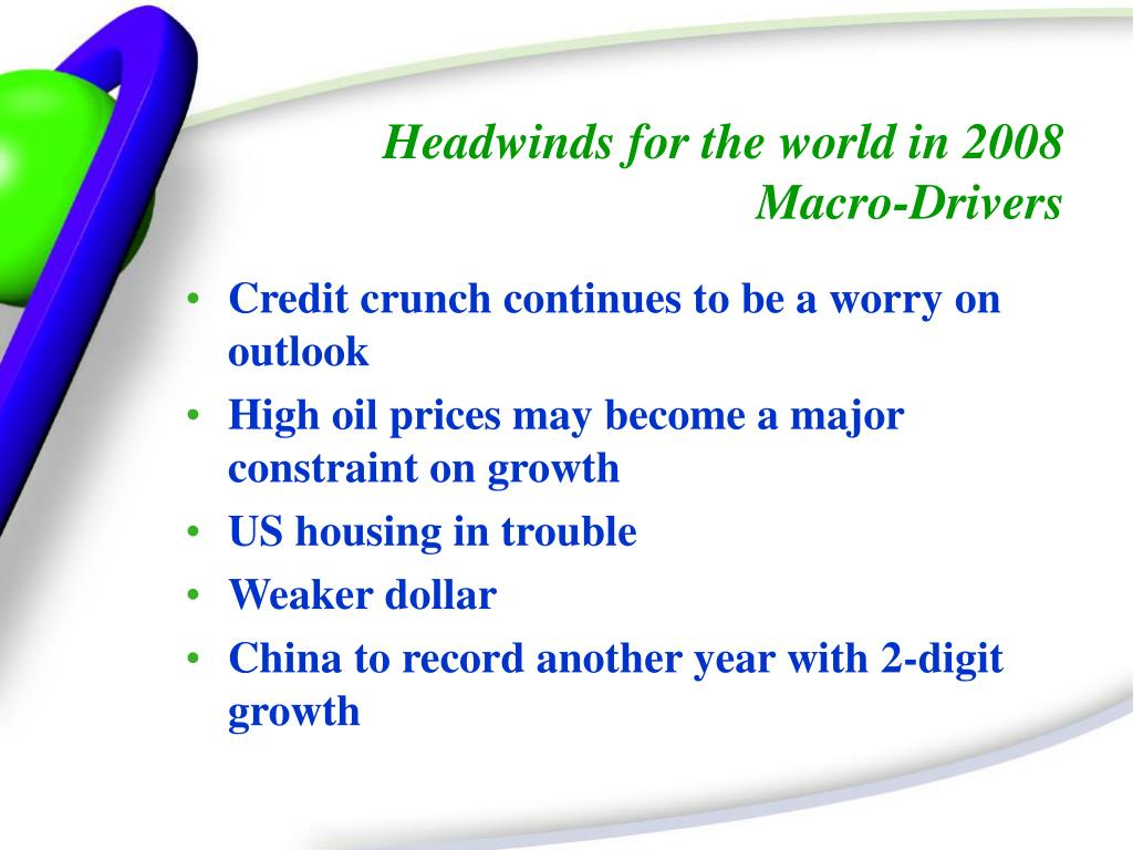 Headwinds for the world in 2008