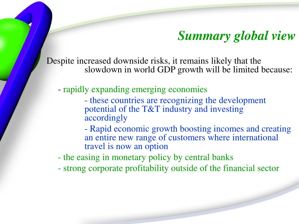 Summary global view