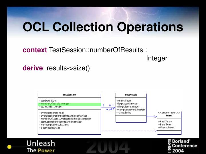 OCL Collection Operations
