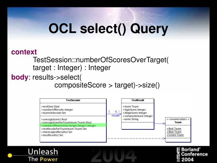 OCL select() Query