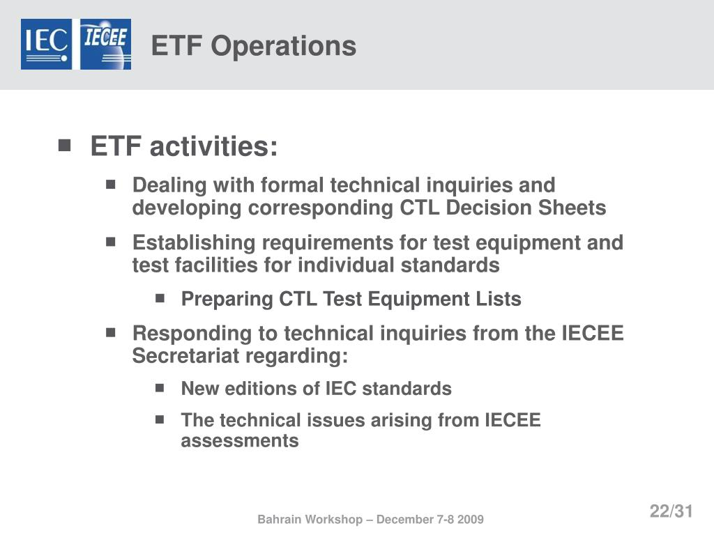 ETF Operations