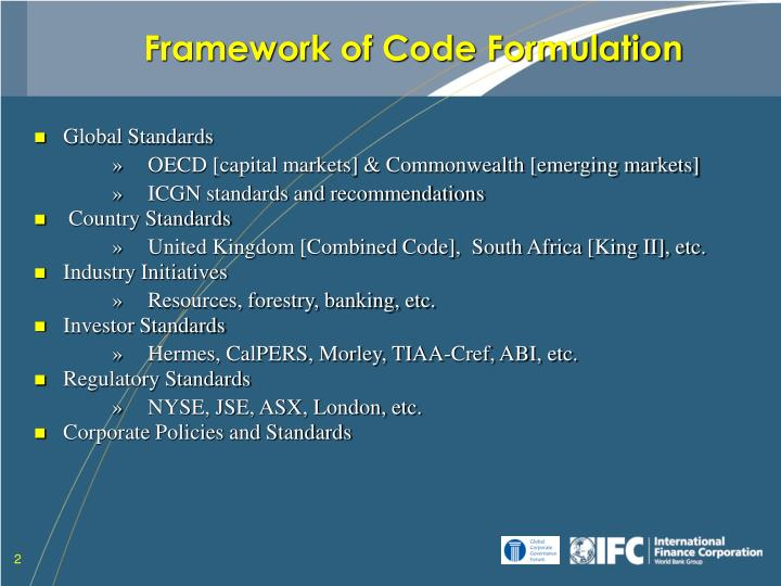Framework of code formulation l.jpg