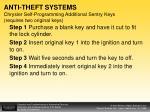 anti theft systems chrysler self programming additional sentry keys requires two original keys