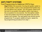anti theft systems ford programming for additional pats keys2