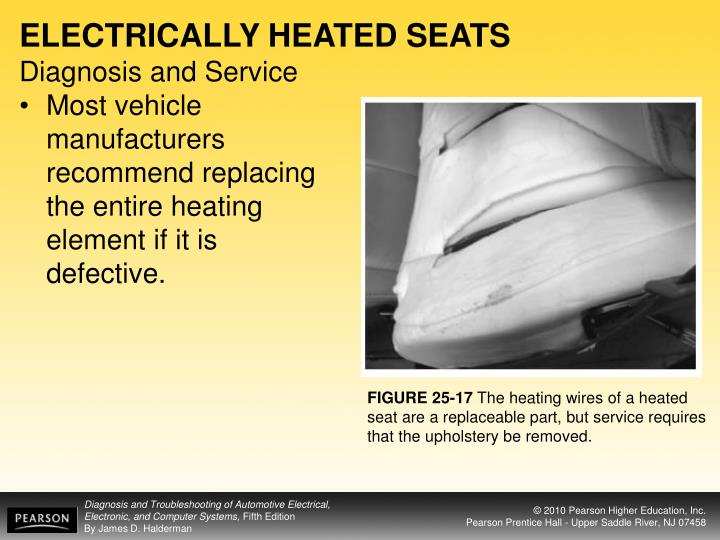 ELECTRICALLY HEATED SEATS