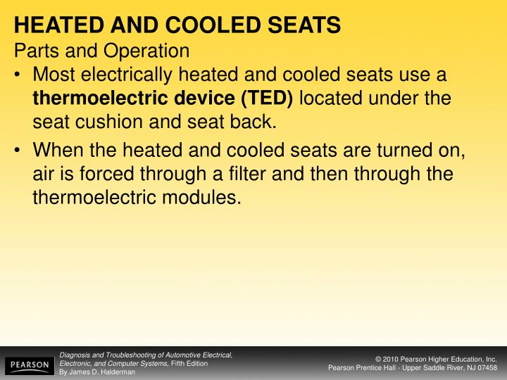 HEATED AND COOLED SEATS