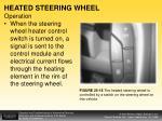 heated steering wheel operation